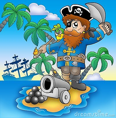 Free Pirate Shooting From Cannon Stock Image - 12453701