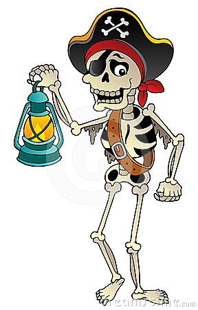 Pirate skeleton with lantern