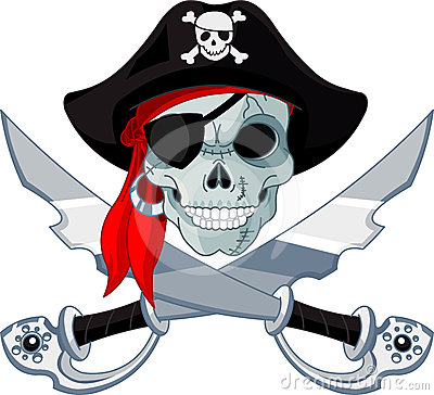 Free Pirate Skull Stock Image - 24349131