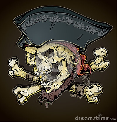 Free Pirate Skull Head Stock Photo - 29926910