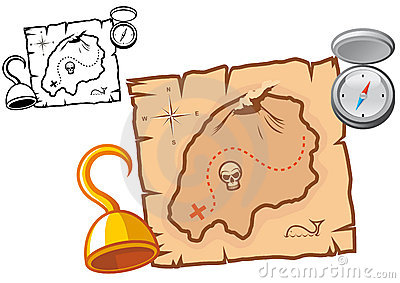 Pirate treasure map