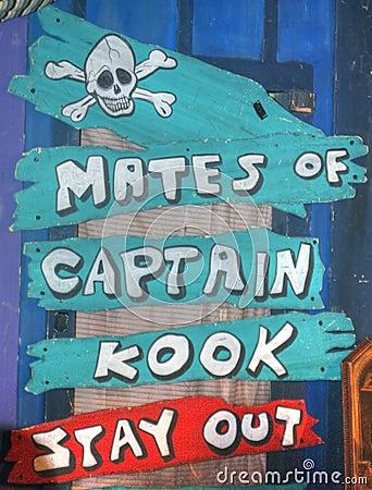 Free Pirate Warning For Mates Stock Photo - 3943910