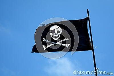 Piraten-Markierungsfahne