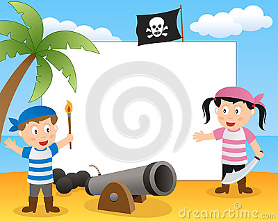Pirates & Cannon Photo Frame