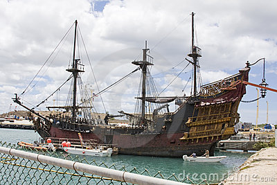 Pirates of the Caribbean 4 Set Editorial Stock Photo