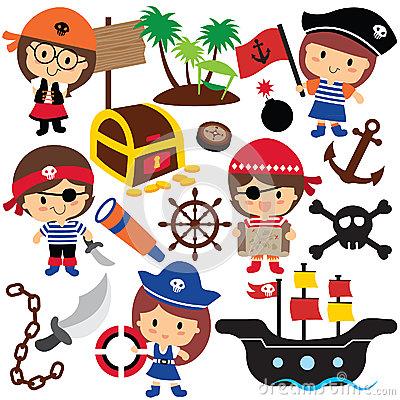 Free Pirates Kids Clip Art Stock Photos - 45330033