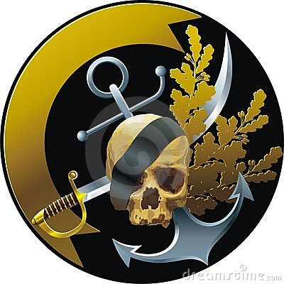 Piratical style badge