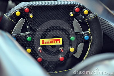 Pirelli Steering Wheel Editorial Photography