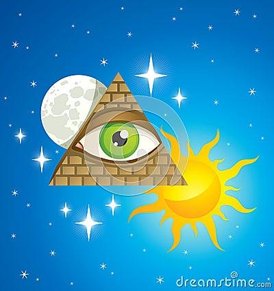 Pirámide con el ojo