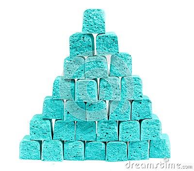 Pirámide de la tiza de los niños de las rebanadas