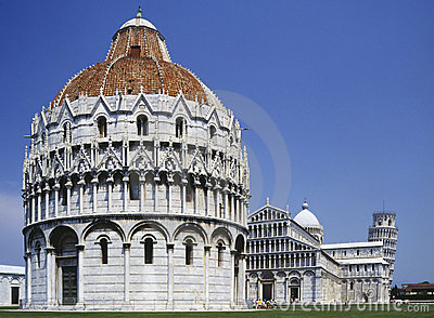 Pisa - Italy - Battistero & Leaning Tower