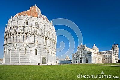 Pisa, Piazza dei miracoli. Tuscany, Italy.