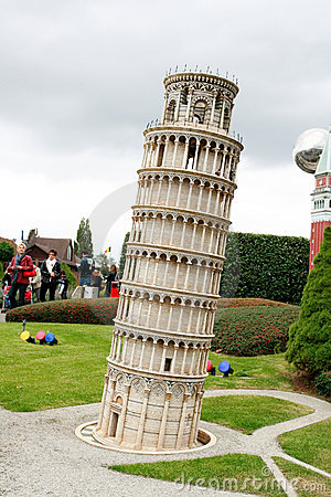 Pisa tower in Mini Europe park Editorial Stock Photo