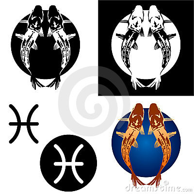Pisces Zodiac Icon Set