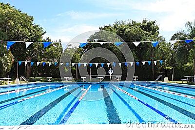 Piscina de la competición de la natación