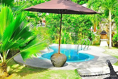 Piscina tropical luxuosa
