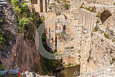 Piscine antique des ruines de bethesda vue de mosqu e de for Piscine de bethesda