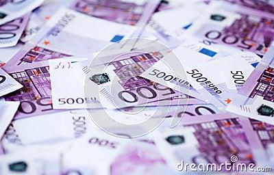 Pięćset euro banknotów