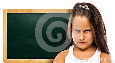 Pissed Children with a Green Chalkboard
