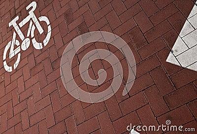 Pista da bicicleta em uma cidade