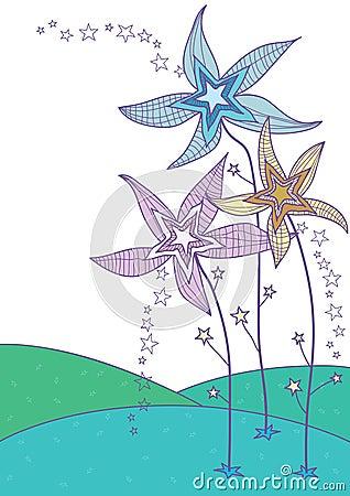 Pista de la flor de la estrella