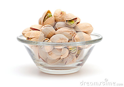 Pistachio in a glass bowl