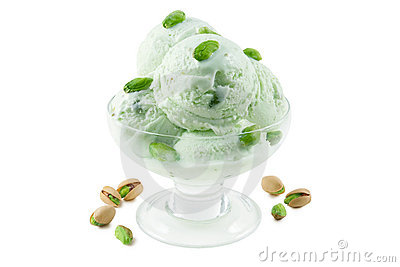 Pistachio ice cream