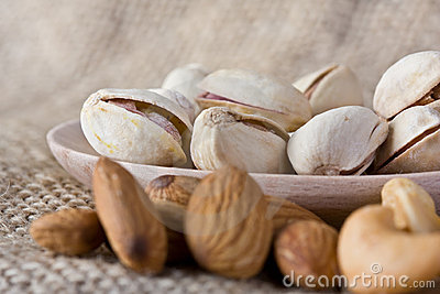 Pistachio Nuts and Almonds