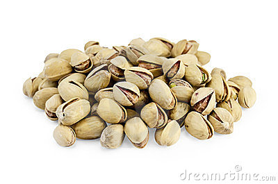 Pistachios of salt are a handful