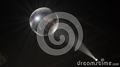 Piste de danse de Mirrorball banque de vidéos