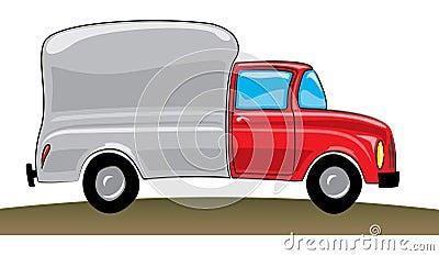 piste rouge de camionnette de livraison photographie stock image 15423692. Black Bedroom Furniture Sets. Home Design Ideas