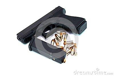 Pistol With Magazine and Ammo