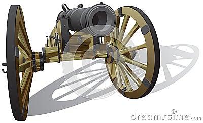 Pistola di campo antica