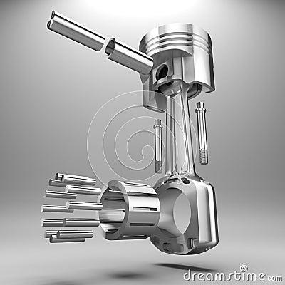piston de la voiture 3d illustration stock image 42207232. Black Bedroom Furniture Sets. Home Design Ideas
