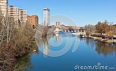 Pisuerga River in Valladolid