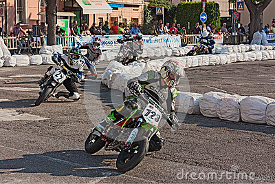 Pit bikes race Editorial Photography