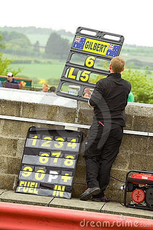 Pit board Editorial Stock Photo