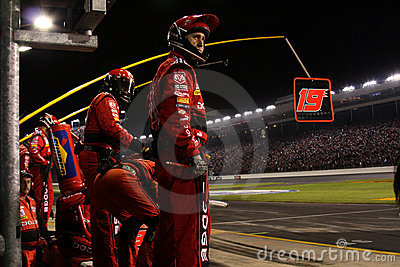 Pit Crew On the Wall Editorial Image