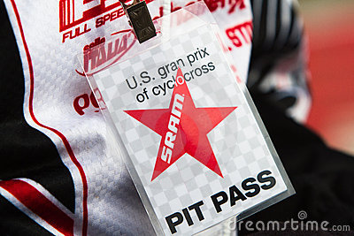 Pit Pass from the US Grand Prix Cyclocross 2011 Editorial Stock Image