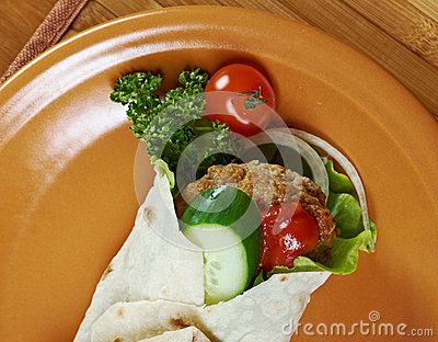 Pita Sandwich With Meat Stock Photography - Image: 30810042