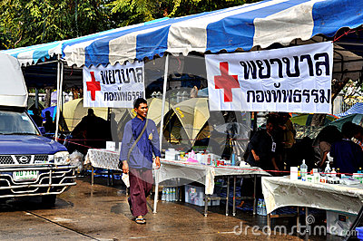 Pitak Siam Anti-Government Rally in Bangkok, Thailand Editorial Stock Photo