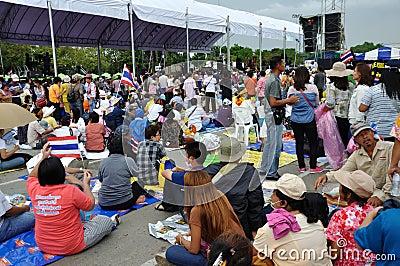 Pitak Siam Anti-Government Rally in Bangkok, Thailand Editorial Stock Image