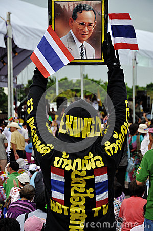 Pitak Siam Anti-Government Rally in Bangkok, Thailand Editorial Photography