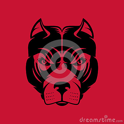 Free Pitbull. Dog Head Logo Or Icon In One Color. Stock Vector Illustration. Royalty Free Stock Photo - 84403015