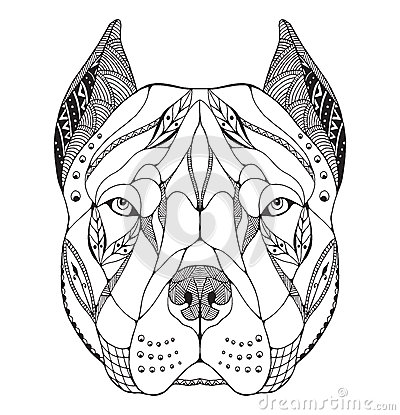 Free Zentangle Coloring Pages Dog
