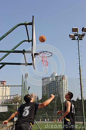 Pitch of the basketball team