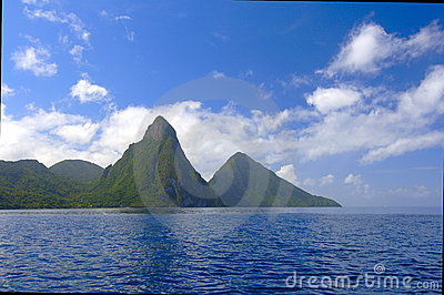 The Pitons Of St. Lucia
