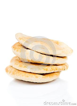 Free Pitta Bread (Lebanese Bread) Royalty Free Stock Photography - 33595397