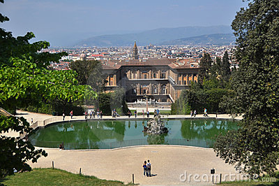 Pitti Palace and Boboli Gardens, Florence Italy Editorial Photography