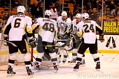 Pittsburgh Penguins NHL Hockey Editorial Image